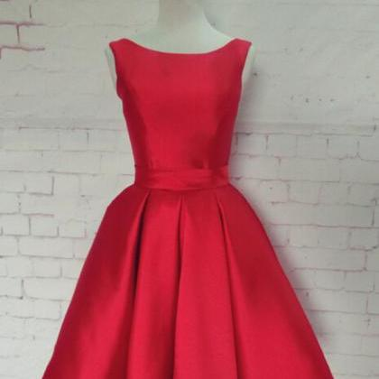 elegant red short prom dresses, bac..