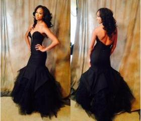 fashion black prom d..