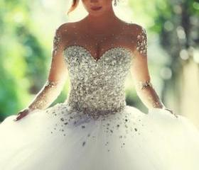 Beaded wedding dress..