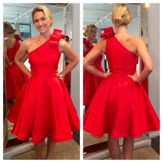 Homecoming Dress, Red Homecoming Dresses, One Shoulder Prom Dresses, Mini Party Dresses, Sexy Cocktail Dresses,Graduation Dresses,Wedding Guest Prom Gowns, Formal Occasion Dresses,Formal Dress