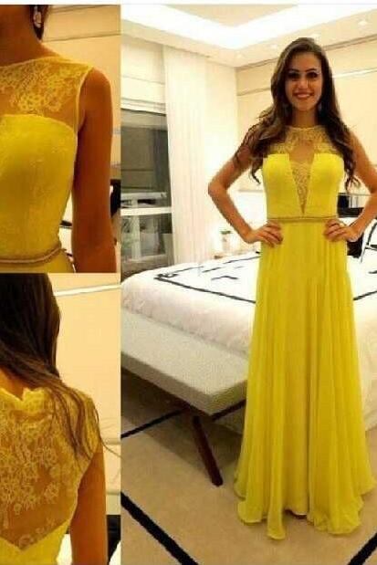 Prom Dress, Charming Prom Dress,Long Prom Dresses,Yellow Chiffon Prom Dress,Formal Evening Dress,Prom Party Dress,High Quality Graduation Dresses,Wedding Guest Prom Gowns, Formal Occasion Dresses,Formal Dress