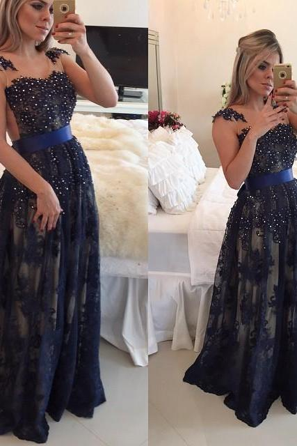 Elegant Evening Dress, Lace Evening Dress,2017 Evening Dress,Beaded Evening Dress,Sexy Evening Dresses,Cheap Evening Dress,Dresses For Women