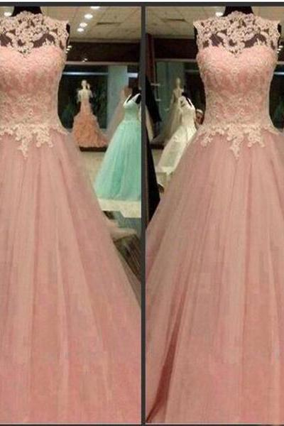 Pink Formal Dress, Long Prom Dresses,Sleeveless Formal Dresses,Prom Dress With Lace,Custom Prom Dresses,Pretty Prom Dresses,Discount Prom Dresses, Formal Occasion Dresses,Formal Dress