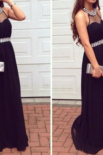 Sexy Prom Dress, Black Sexy Handmade Halter Neckline Long Prom Dresses , Black Prom Dresses, Evening Dresses, Formal Dresses, Party Dress,Wedding Guest Prom Gowns, Formal Occasion Dresses,Formal Dress