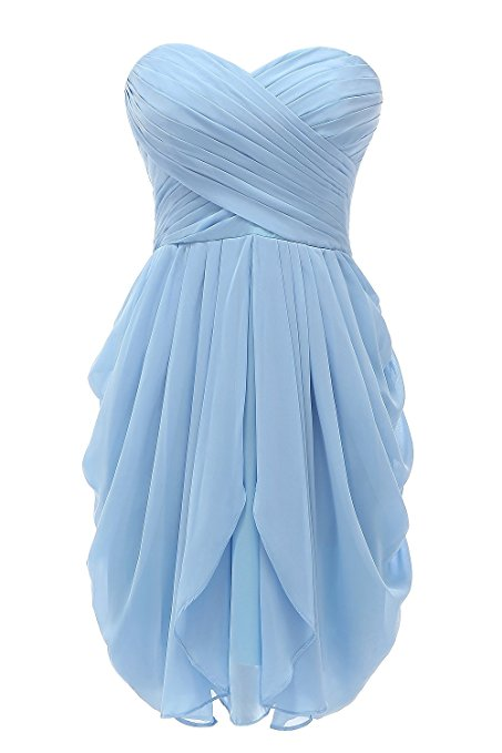 Bridesmaid Dresses,Short Bridesmaid Dresses,Strapless Chiffon Short Formal Party Bridesmaid Dresses
