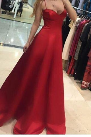 Cheap prom dresses 2017,Prom Dress, Red Evening Dresses, A Line Prom Dresses, Satin Party Dress, Long Formal Dress,Graduation Dresses,Wedding Guest Prom Gowns, Formal Occasion Dresses,Formal Dress
