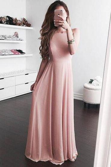 Blush Open Back party Dress,Prom Dress,Long Chiffon party Evening Dresses,Maxi Dresses,Simple Evening Dresses,Sexy chiffon Backless Prom Dresses, Formal Gowns, Prom Dress,Formal Gowns Plus Size, Cocktail Dresses, formal dresses,Wedding guests dresses