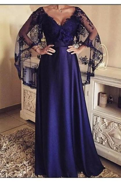 Prom Dress,Sexy Elegant Evening Dress,V-neck Long Evening Dresses with Lace Shawl,Formal Party Gowns,High Quality Graduation Dresses,Wedding Guest Prom Gowns, Formal Occasion Dresses,Formal Dress