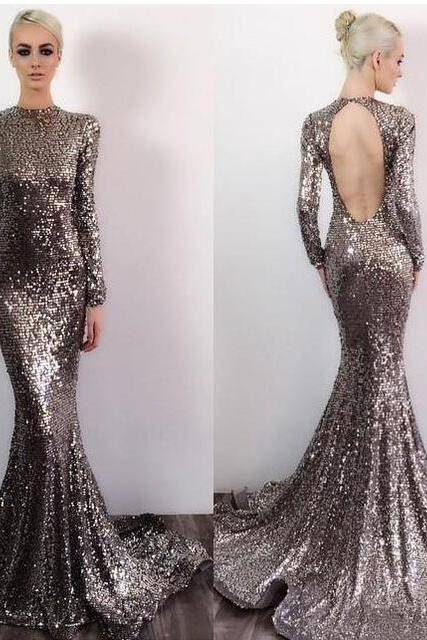 Cheap prom dresses 2017,Sequin Prom Dresses,Prom Dress,Backless Evening Gown,Long Formal Dress,Sequined Prom Gowns,Open Backs Evening Dresses For Teens