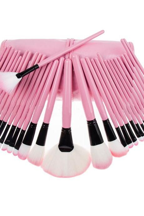 New Fashion Professional 32 pcs Makeup Brush Set Makeup Tools pink