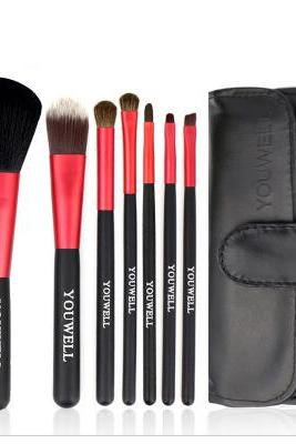 black 7pcs Makeup Brush ,fashion new Portable makeup brush set