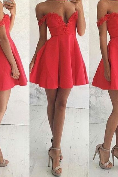 Elegant Prom Dress,Off Shoulder Prom Dress,Modest Prom Dress,Sexy Prom Dress,Prom Dresses 2017,Mini Prom Dress,Prom Gown