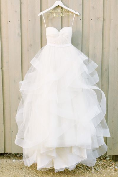 Strapless Sweetheart Twisted Ruched A-line Wedding Dress with Ruffle Skirt