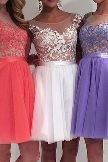Charming Prom Dress,2017 Prom Dress,Tulle Prom Dress,Appliqus Prom Dress,Beading Prom Dress