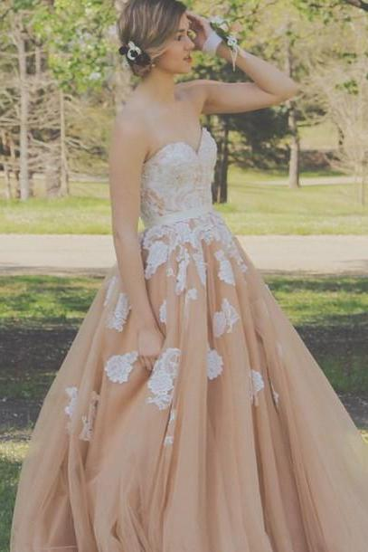 Prom Dress,Charming ball gown Prom Dress,New Prom Dress,Long Prom Dresses,new style champagne Prom Dresses, Formal Dresses,Wedding Guest Prom Gowns, Formal Occasion Dresses,Formal Dress