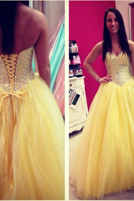 long sexy yellow evening dresses , long elegant tulle prom dresses,formal prom dresses,dresses party evening,2016 new arrival formal dresses