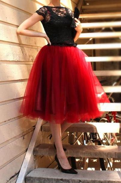 Red Party Dress,Tullr Prom Dresses,New Arrival Formal Dresses Party Gowns