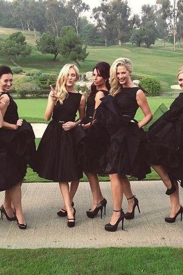 Short bridesmaid dress, black bridesmaid dress, popular bridesmaid dress, morden bridesmaid dress, wedding party dress, occasion dress, Formal Dresses,Wedding Guest Prom Gowns