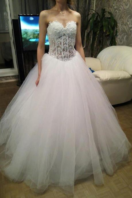 Wedding Dresses,Sexy Long Appliques and Tulle Wedding Dresses,Ball Gown Bridal Gowns Weddings Dress,High Quality Bridal Dresses,Wedding Guest Prom Gowns, Formal Occasion Dresses,Formal Dress