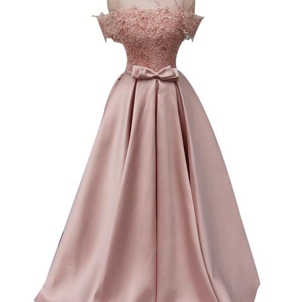 Long Prom Dresses, Sleeveless Prom Dresses, Satin Party Prom Dresses, Tulle Prom Dresses, Applique Prom Dresses