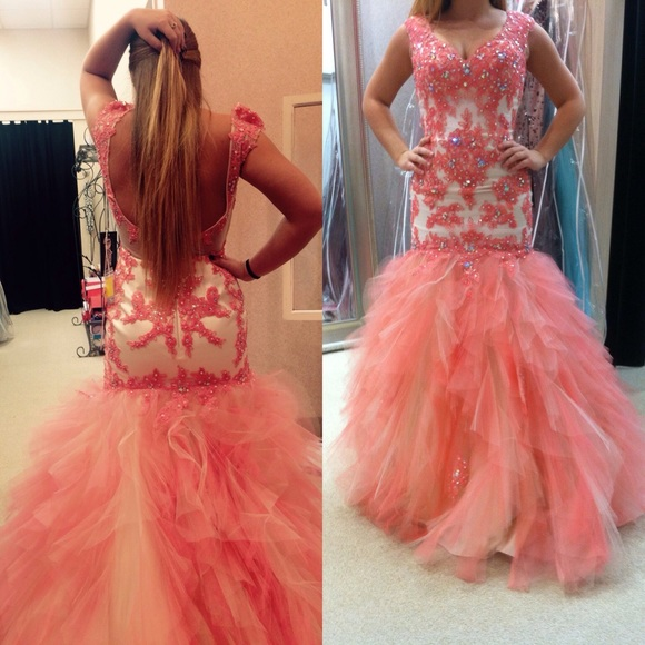 mermaid evening dress ,pink Prom Dresses,Mermaid Prom Dress,Lace Prom Dress,Lace Prom Dresses