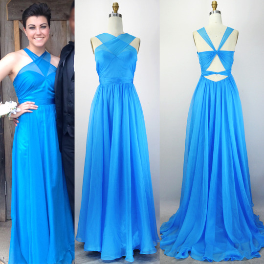 Prom Dress,Chiffon Prom Dress,A-Line Prom Dress,Halter Prom Dress,Brief Prom Dress