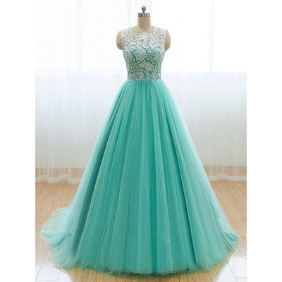 Mint Prom Dress,A-line Prom Dress,Tulle Prom Dress,A-line prom dress,Prom Dress,Party dress gown, prom dress 2017